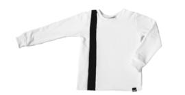 Wit met zwart streep verticaal sweater