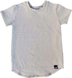 Sand t-shirt langere achterkant