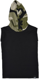 Black with camo green longhemd