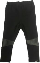 Zwart legging leer knie