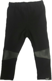 Black leather knees legging