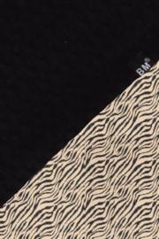 Boxkleed zwart wafel / tijger sand