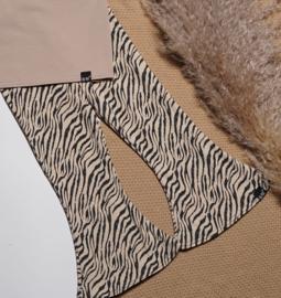 Flared broek tijger sand