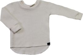 Baby knit off white rond sweater