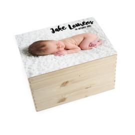 Geboorte/herinnerings kist eigen foto