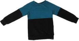 Half petrol/zwart shirt