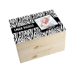 Geboorte/herinnerings kist tijger wit