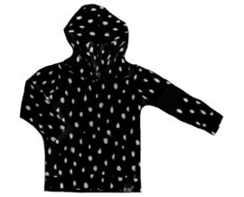 Zwart dot met zwart streep mouw hoodie