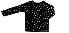 Dot zwart met zwart streep verticaal sweater