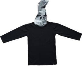 Black with camo grey longshirt