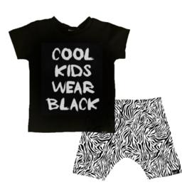 Cool kids wear black/ wit tijger korte baggy broek
