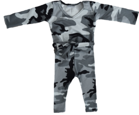 Camo grey jumpsuit