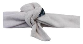 Beige knit knoop haarband