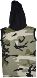 Camo green hooded longhemd