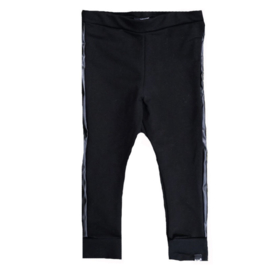 Black with side leather pants