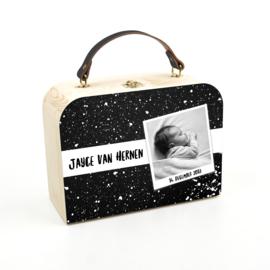 Houten koffertje verf foto