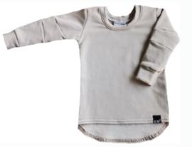 Kit long shirt met schuine mouwen