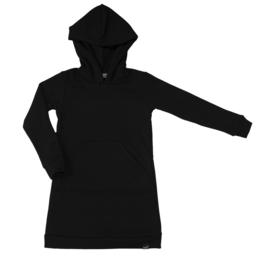 Zwart hoodie jurk