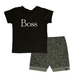 Boss/ tijger groen omslag broek
