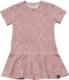Roze blok roes jurk