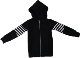 Zwart/streep vest
