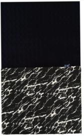 Zwart marble deken