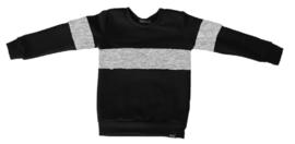 Zwart met grijs horizontaal streep sweater