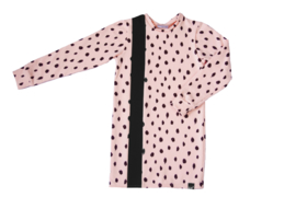Roze dot met zwart streep jurk
