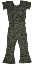 Tijger groen flared jumpsuit