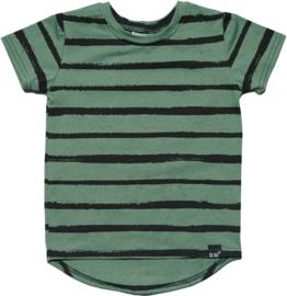 Groen streep long t-shirt