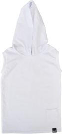 White hooded longhemd