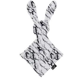 Knuffel bunny wit marble