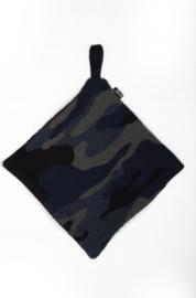 Camo blue pacifier cloth