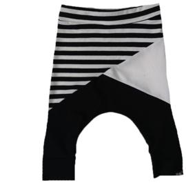 Streep/wit/zwart baggy