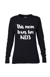 Loves her kids sweater