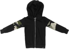 Zwart/camo groen vest