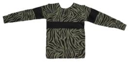Tijger groen met zwart shirt