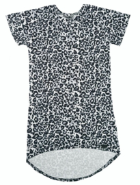 Mini maxi panter grijs korte mouw