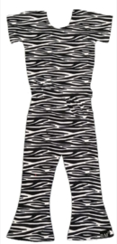 Zebra flared jumpsuit