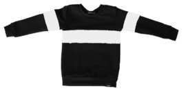 Zwart met wit horizontaal streep sweater