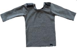 Grey leather longshirt