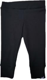 Mini rib zwart broek