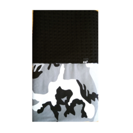 Camo grey crib blanket