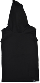 Black hooded longhemd