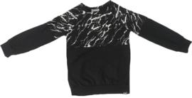 Half marble/zwart shirt