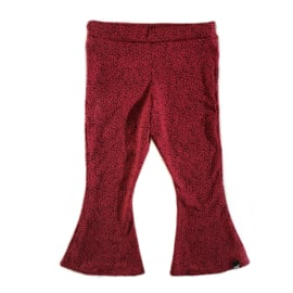 Panter red flared pants