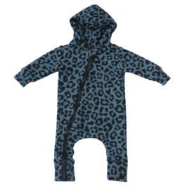 Panter blauw onesie
