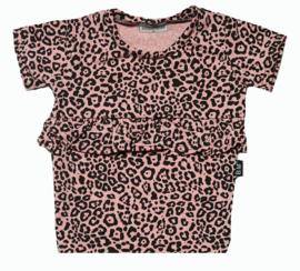 Panter roze roes lijfje t-shirt