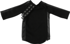Zwart leer band jurkje + haarbandje