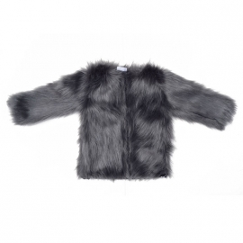 Grey im. fur coat